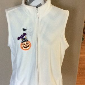 Basic Editions Halloween vest NWOT